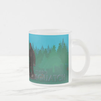 Bobo Meets Squatch Frosted Glass Coffee Mug