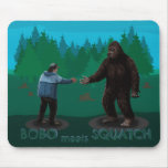 Bobo Meets Squatch Mousepads