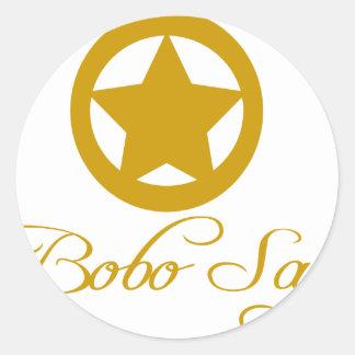 Bobo Says Entire Line Classic Round Sticker
