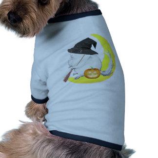 Bobo the chinchilla halloonween witch doggie shirt