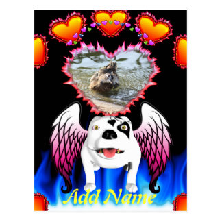 Bobo the Devil Dog does Angel Postcard
