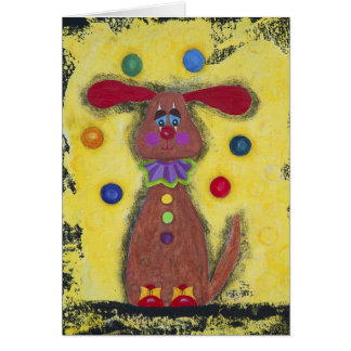 Bobo, the Spotted Clown Card