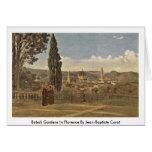 Boboli Gardens In Florence By Jean-Baptiste Corot Greeting Card