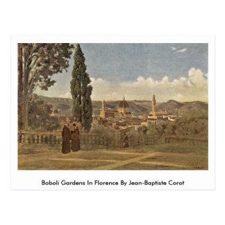 Boboli Gardens In Florence By Jean-Baptiste Corot Postcard