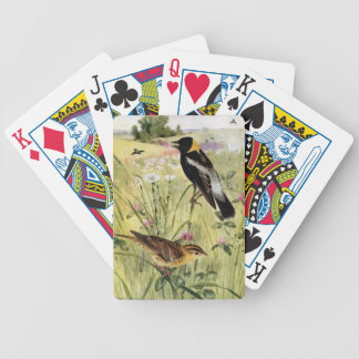 Bobolinks, Daisies and Pink Clover Bicycle Playing Cards