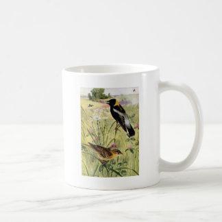 Bobolinks, Daisies and Pink Clover Coffee Mug