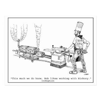 Bob's BBQ Cartoon Postcard