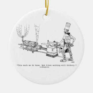 Bob's BBQ Ornament (round, oval, square)