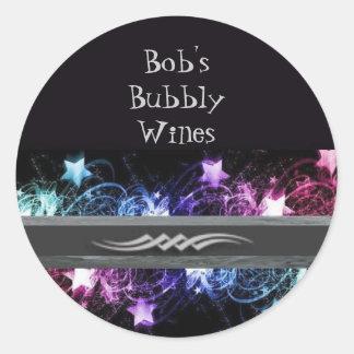 Bob's Bubbly Wines Labels Sticker