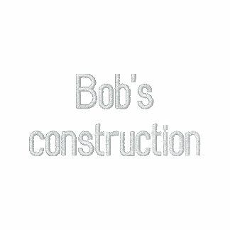 Bob's construction embroidered shirt