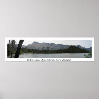 Bob's Cove, Queenstown, New Zealand Poster