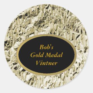 Bob's Gold Medal Vintner Wine Labels