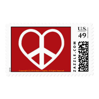 Bob's Peace Heart Postage For Love Letters