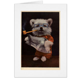 'Bob's Reading' - Dog in Costume Card