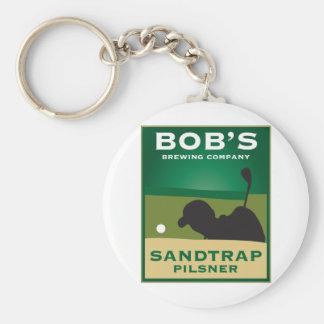 Bob's Sandtrap Pilsner Basic Round Button Keychain