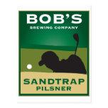 Bob's Sandtrap Pilsner Post Card