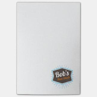 Bob's Your Uncle Funny Man Named Bob Joke Post-it Notes