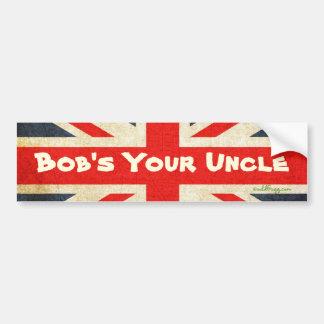 Bob's Your Uncle Grunge Union Jack Bumper Sticker