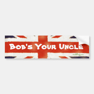 Bob's Your Uncle Vintage Union Jack Bumper Sticker