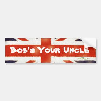 Bob's Your Uncle Vintage Union Jack Bumper Sticker Car Bumper Sticker