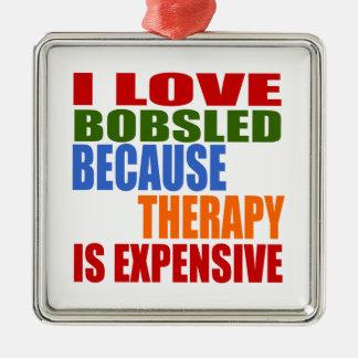Bobsled Designs Metal Ornament