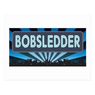 Bobsledder Marquee Postcard