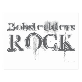 Bobsledders Rock Postcard