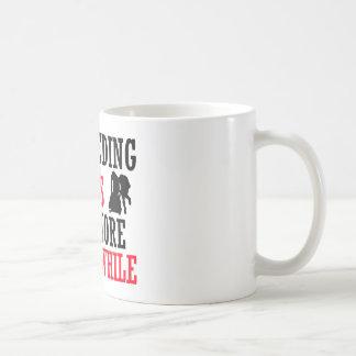 bobsledding design coffee mug