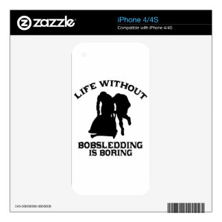 Bobsledding DESIGNS Skins For iPhone 4S