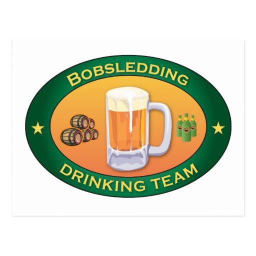 Bobsledding Drinking Team Post Card