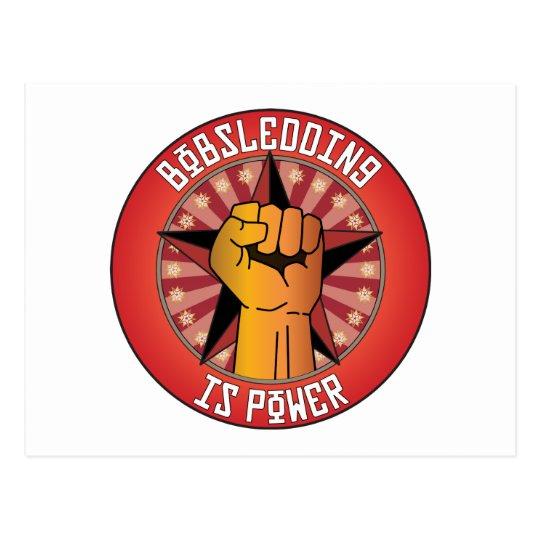 Bobsledding Is Power Postcard
