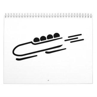 Bobsleigh icon wall calendars