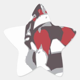 Bobsleigh Star Sticker