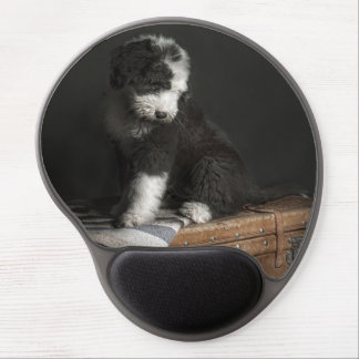 Bobtail puppy portrait in studio gel mouse pad