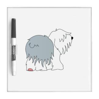 Bobtail Sheepdog Dry-Erase Board
