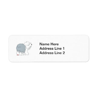Bobtail Sheepdog Label