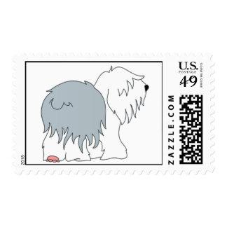 Bobtail Sheepdog Postage Stamp