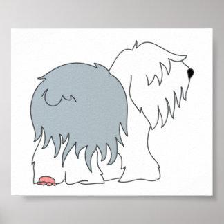 Bobtail Sheepdog Poster