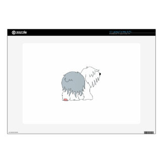 Bobtail Sheepdog Decal For Laptop