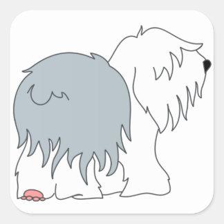 Bobtail Sheepdog Square Sticker