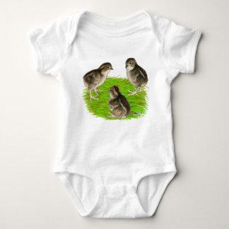 Bobwhite Quail Chicks Baby Bodysuit