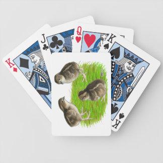 Bobwhite Quail Chicks Bicycle Playing Cards