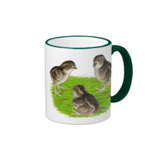 Bobwhite Quail Chicks Ringer Coffee Mug