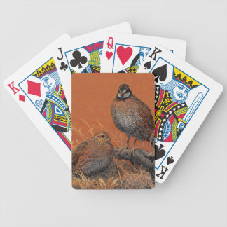 Bobwhite Quail (Georgia, Missouri and Tennessee) Bicycle Playing Cards