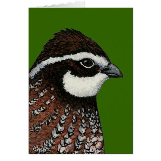 Bobwhite Quail Head Card