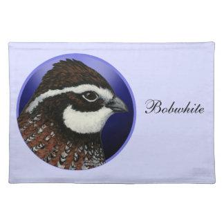 Bobwhite Quail Head Circle Cloth Placemat
