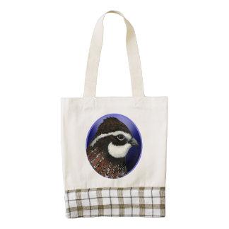 Bobwhite Quail Head Circle Zazzle HEART Tote Bag