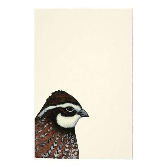 Bobwhite Quail Head Stationery