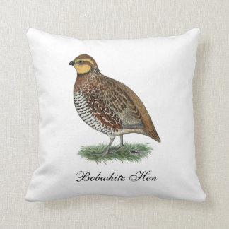Bobwhite Quail Hen Throw Pillow