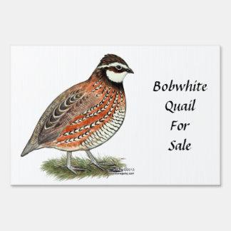 Bobwhite Quail Rooster Sign